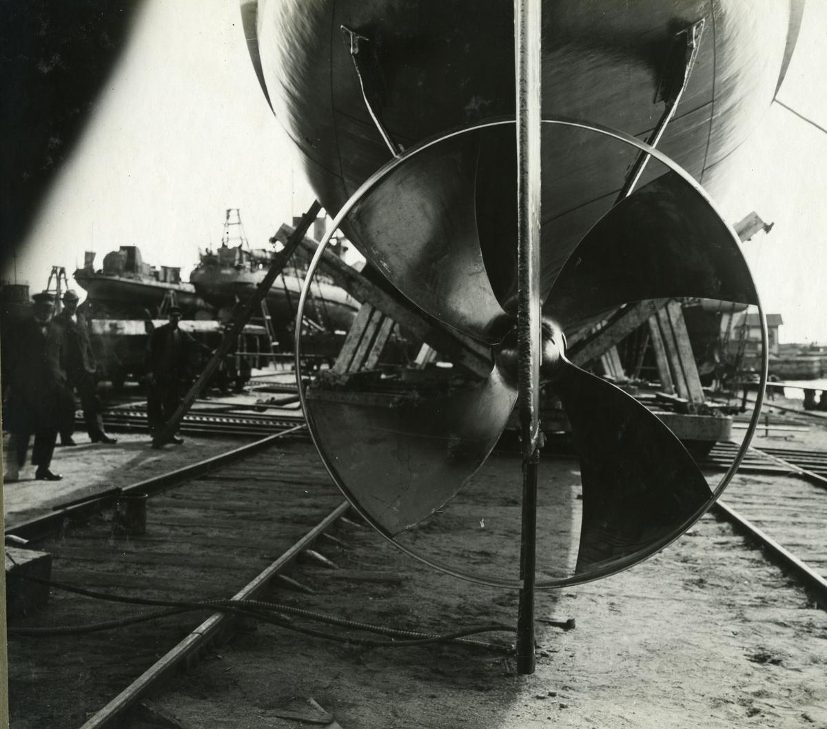 Fartyg: ALTAIR                          Byggår: 1909 Varv: Bergsunds MV Övrigt: Torpedbåten Altair grillpropeller.
