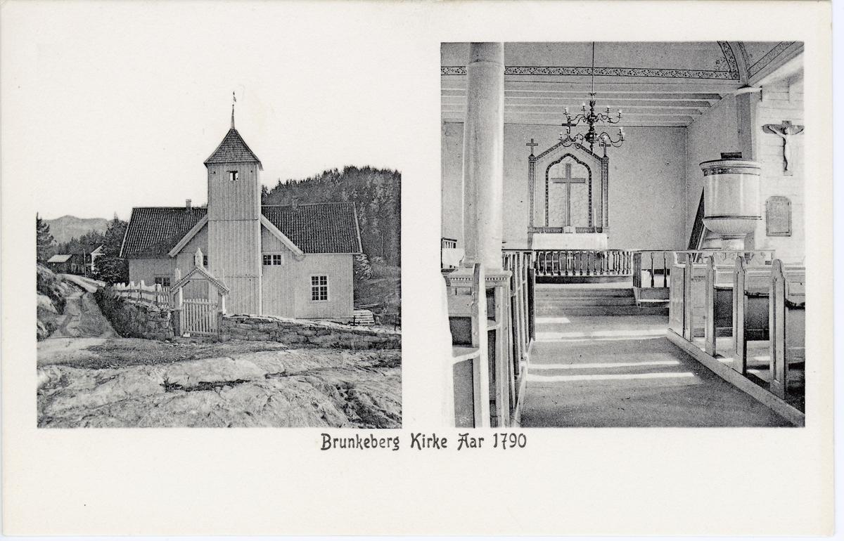 Brunkeberg kirke fra år 1790.