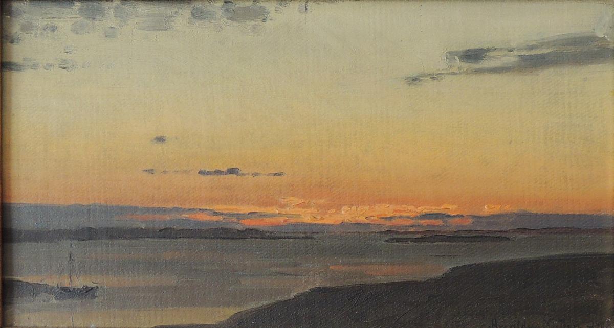 Skjærgård. Solnedgang.