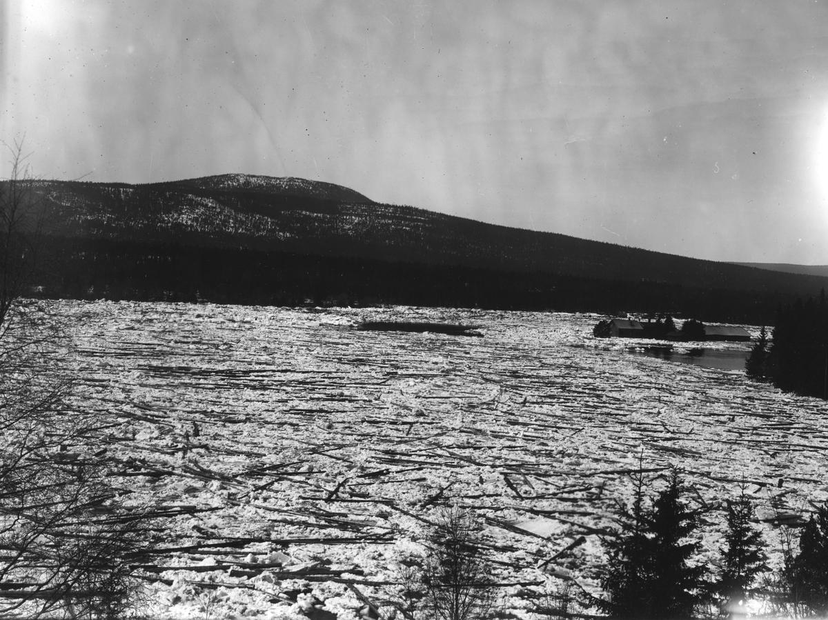 Isgang, tømmerfløting