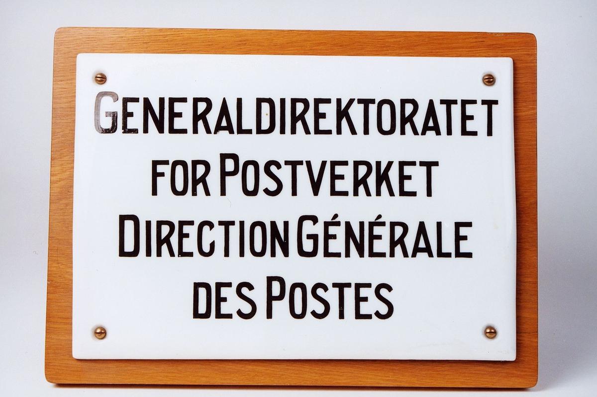 Postmuseet, gjenstander, skilt, postskilt, opplysningsskilt, Generaldirektoratet for Postverket, Direction Générale des Postes.
