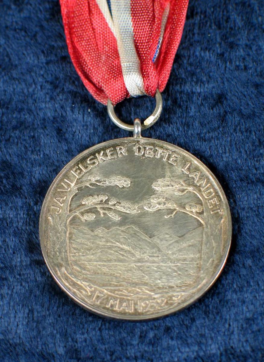 Minnemedalje med BB's portrett på den ene siden og et norsk landskap på den andre siden. Medaljen har et bånd i nasjonalfarger, hempe og nål. Den ligger i en rød eske trukket med fløyel. Innvendig hvit.