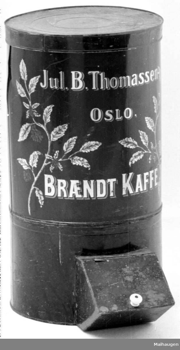 Kaffeboks m/lokk, a-b