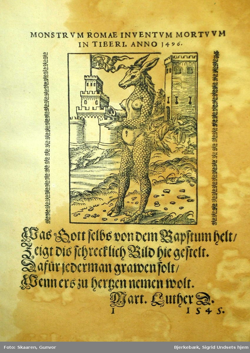 Groteske illustrasjoner av Lucas Cranach til Martin Luthers tekster