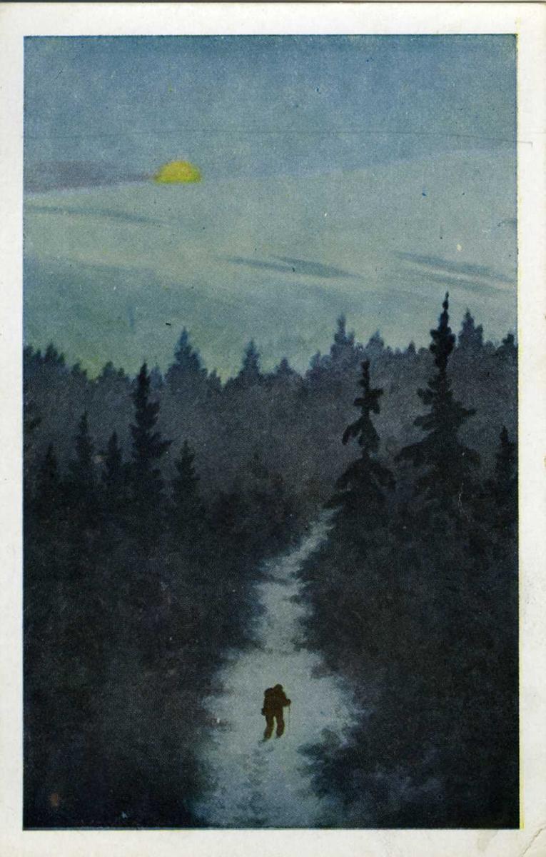Kunstkort i farger.