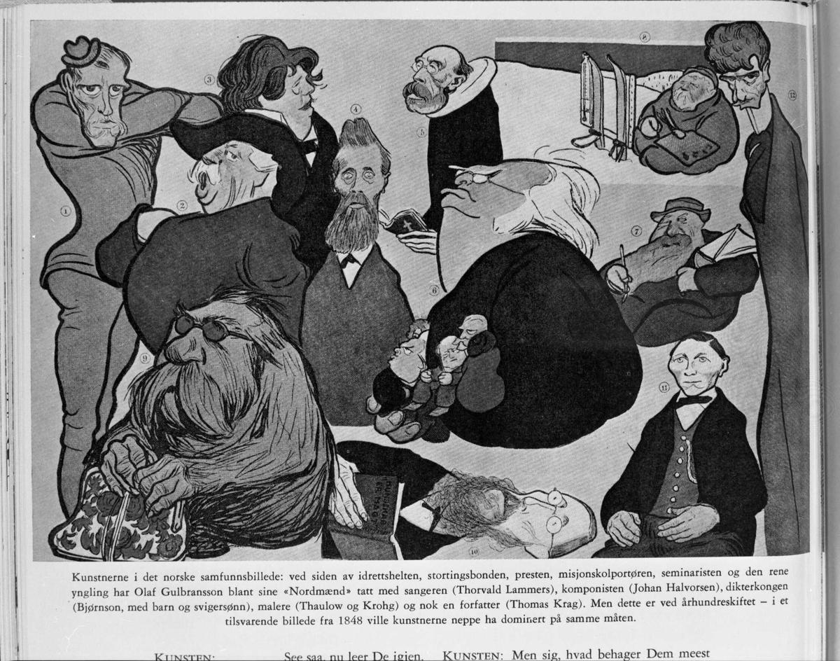 Karikatur, kunstnerer, Bjørnson, svigersønn,