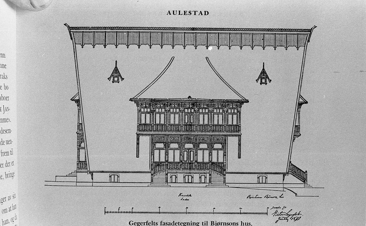 Fasadetegning, Gegerfelt, hus,