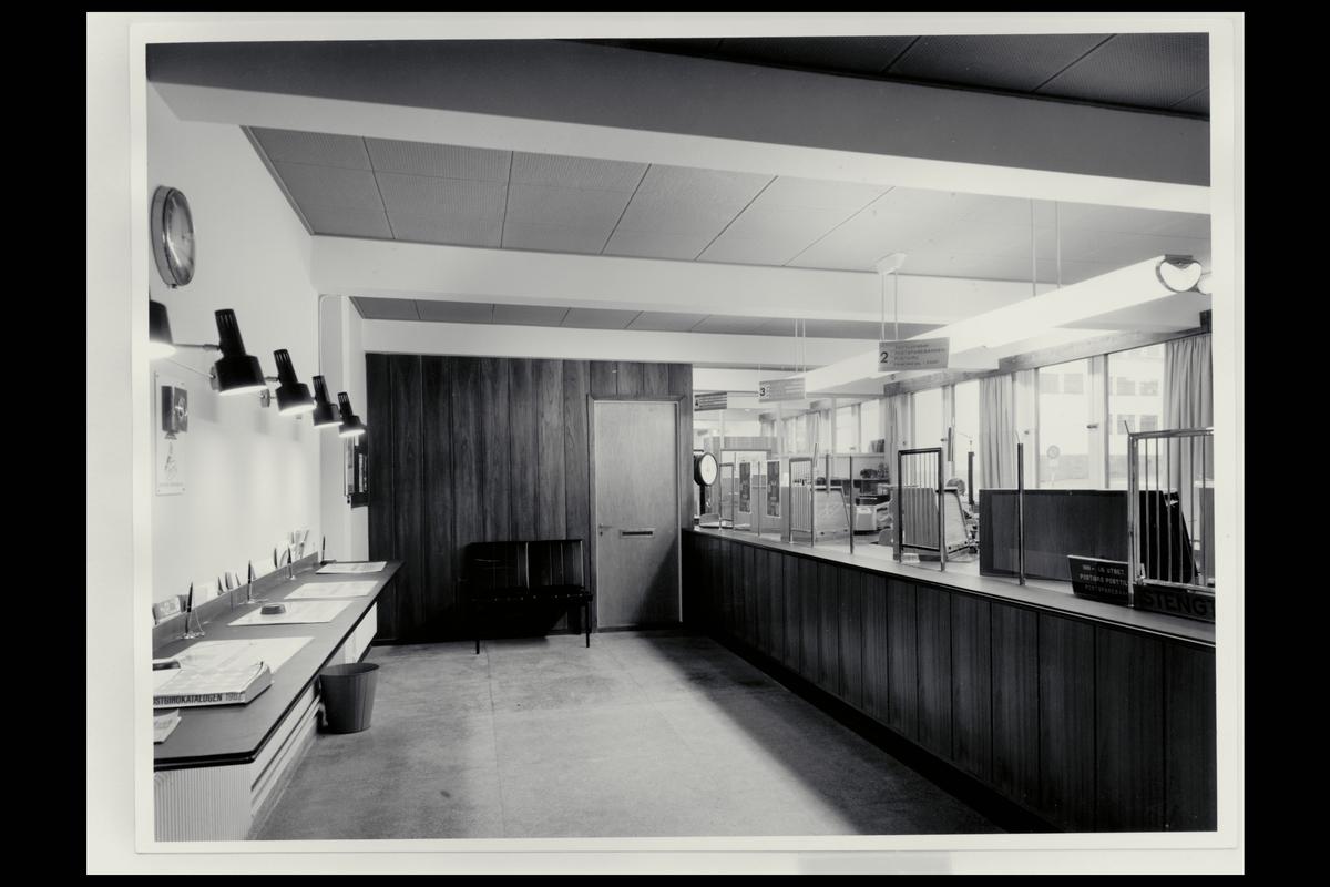 interiør, postkontor, 4340 Bryne, publikumshall