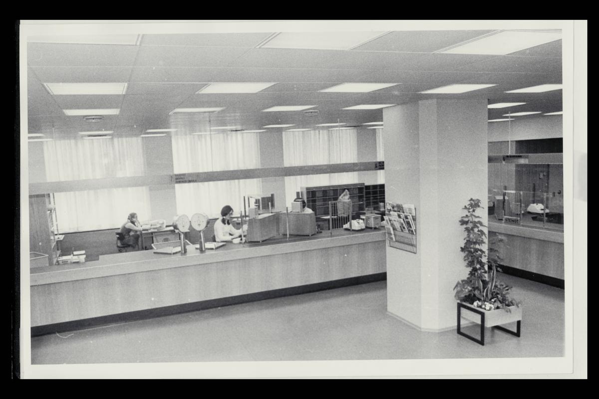 interiør, postkontor, 0134 Vaterland, publikumshall, ekspeditør, vekt