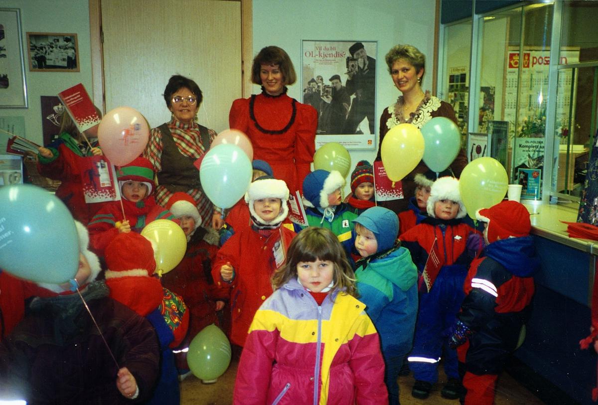 postjubileum, postkontor, Ulvsvåg, 100 år, tre kvinner, barn