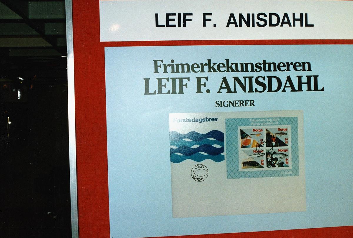 frimerkets dag, Oslo Rådhus, frimerkekunstneren Leif F. Anisdahl, førstedagsbrev