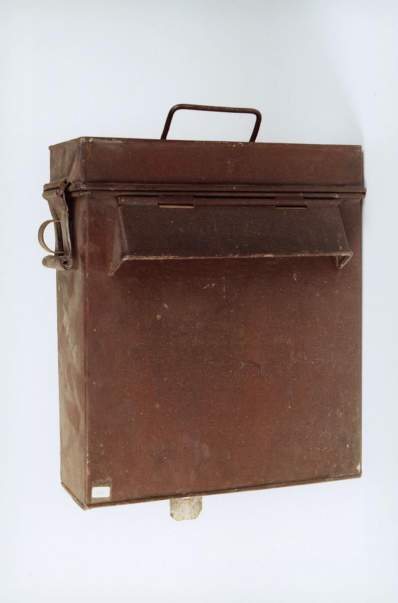 Postmuseet, gjenstander, postkasse, brevkasse, feltpostkasse eller landgangspostkasse.