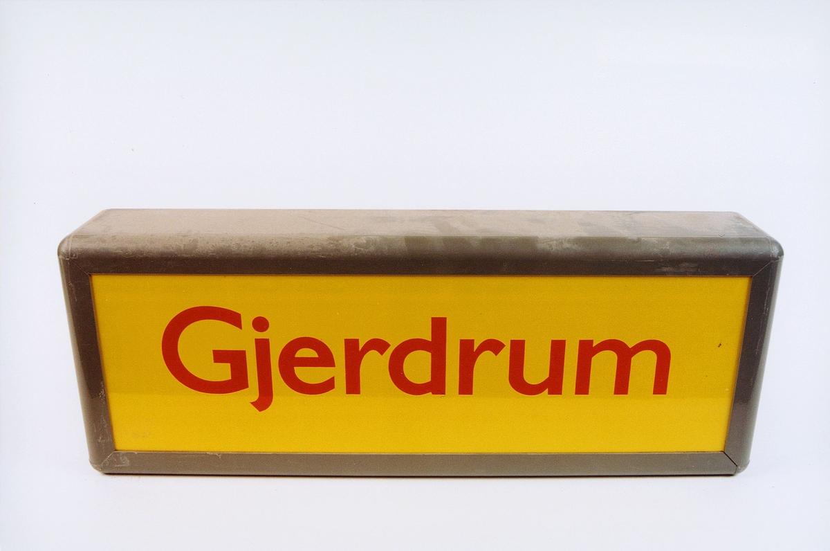 postmuseet, gjenstander, skilt, stedskilt, stedsnavn, Gjerdrum