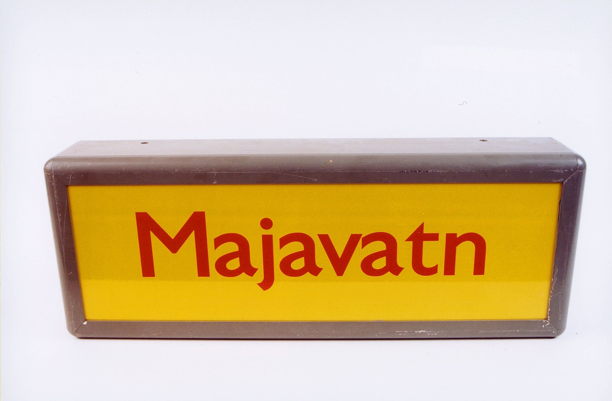 postmuseet, gjenstander, skilt, stedskilt, stedsnavn, Majavatn