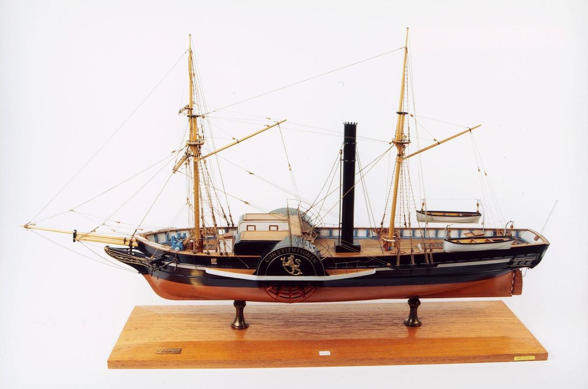 """postmuseet, gjenstander, modell av båt, """"Constitutionen"""""""