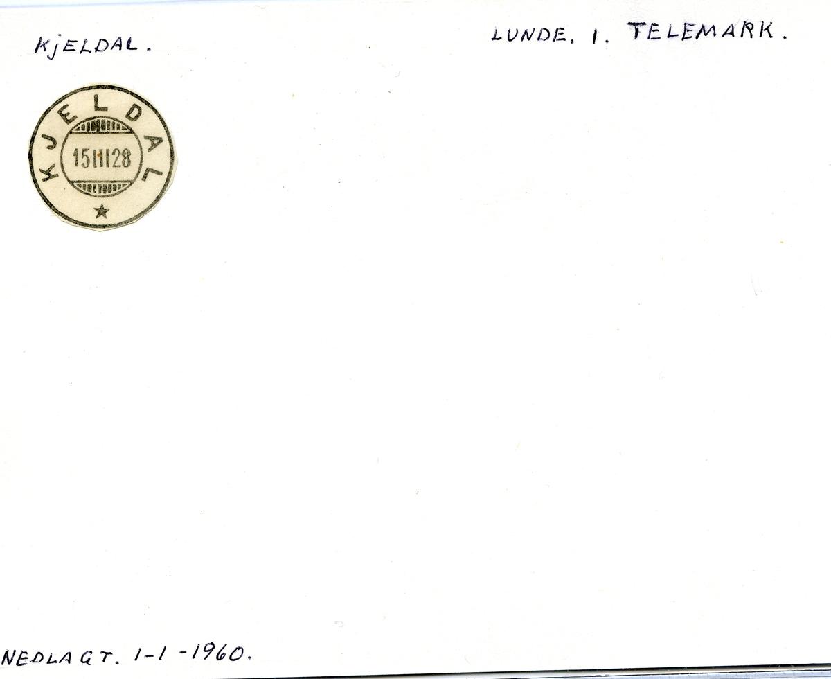 Stempelkatalog Kjeldal, Lunde i Telemark, Telemark