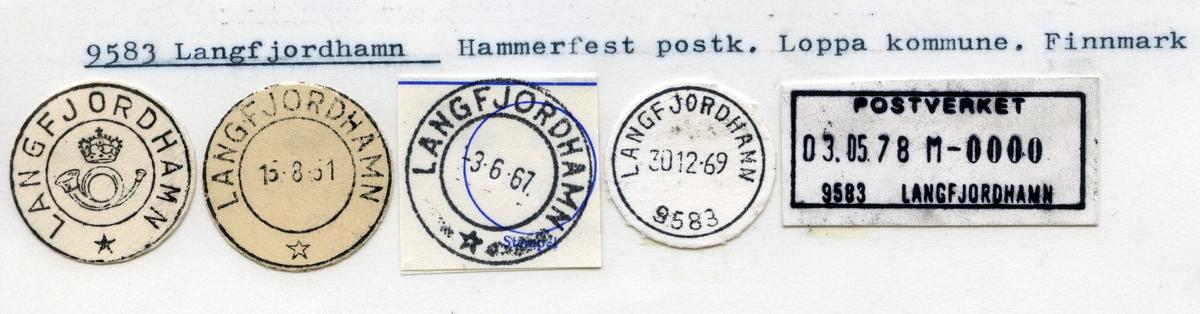 Stempelkatalog 9583 Langfjordhamn,Hammerfest, Loppa, Finnmark