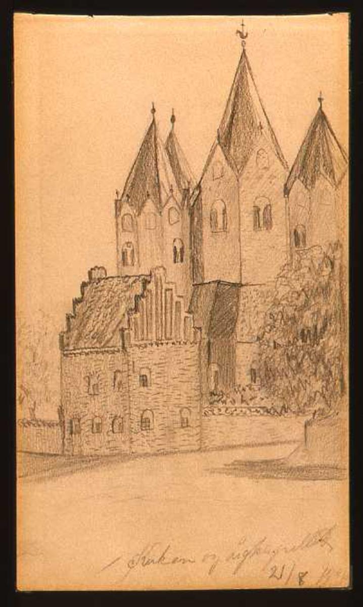 Kirke, kapell, tegning