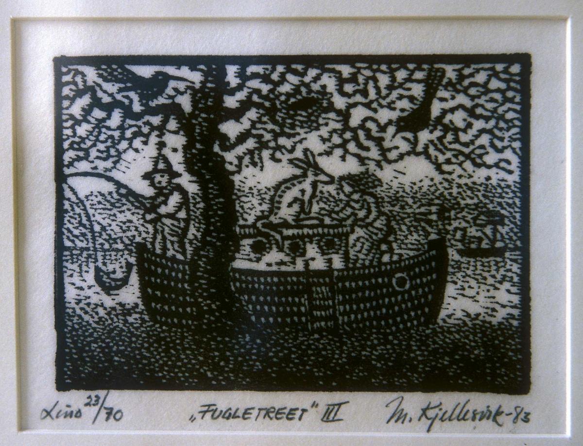 Fugletreet III [Grafikk - Linosnitt]