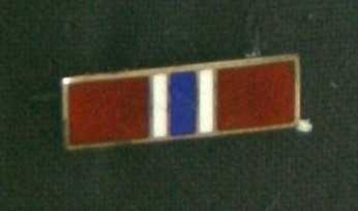 Stripe med norske farger.