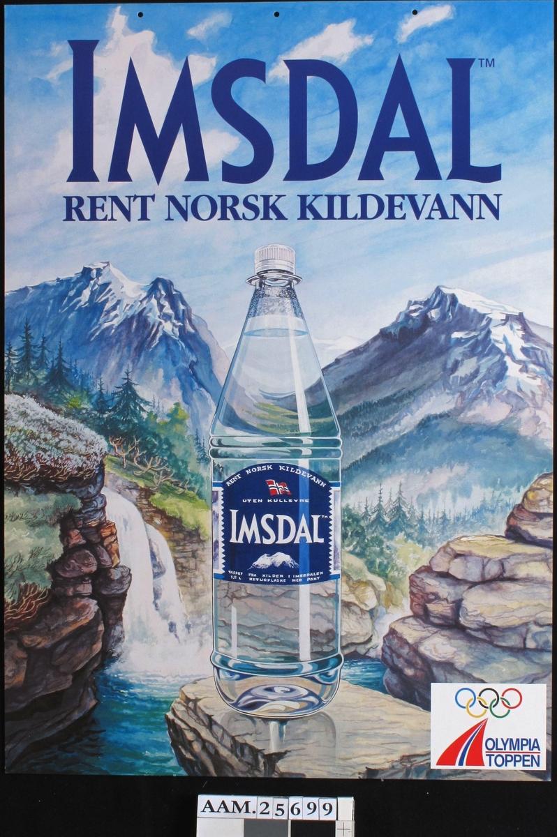 Norsk fjellandskap, vannfall, Imsdalflaske.