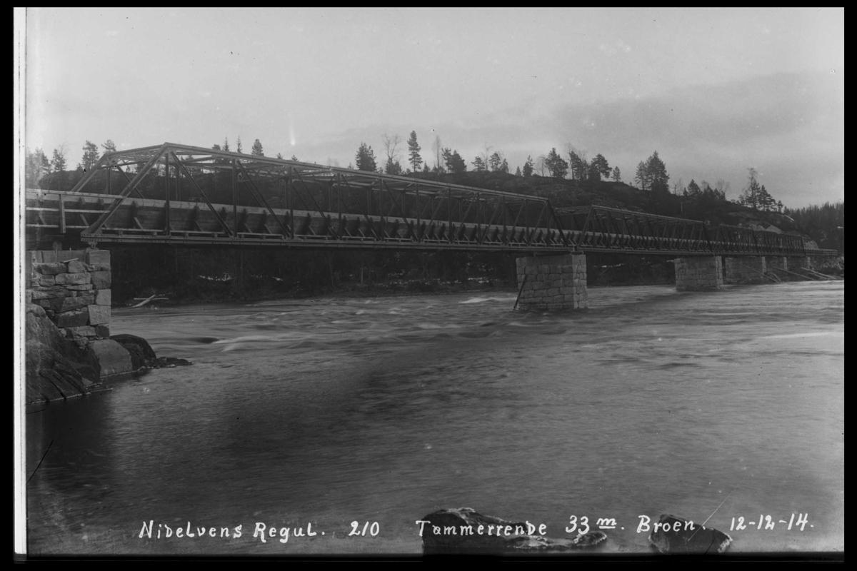 Arendal Fossekompani i begynnelsen av 1900-tallet CD merket 0474, Bilde: 38 Sted: ? Beskrivelse: Tømmerrennene