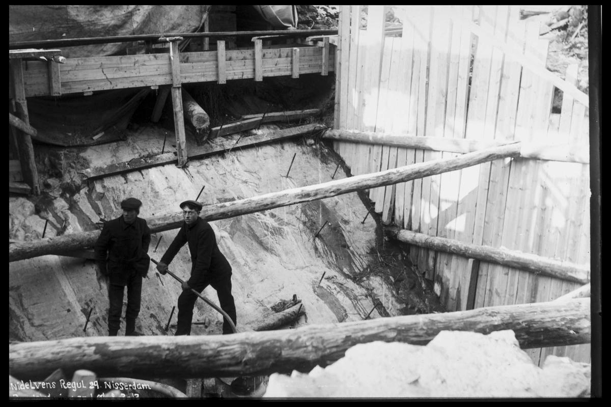 Arendal Fossekompani i begynnelsen av 1900-tallet CD merket 0474, Bilde: 49 Sted: Nisser Beskrivelse: Damanlegg