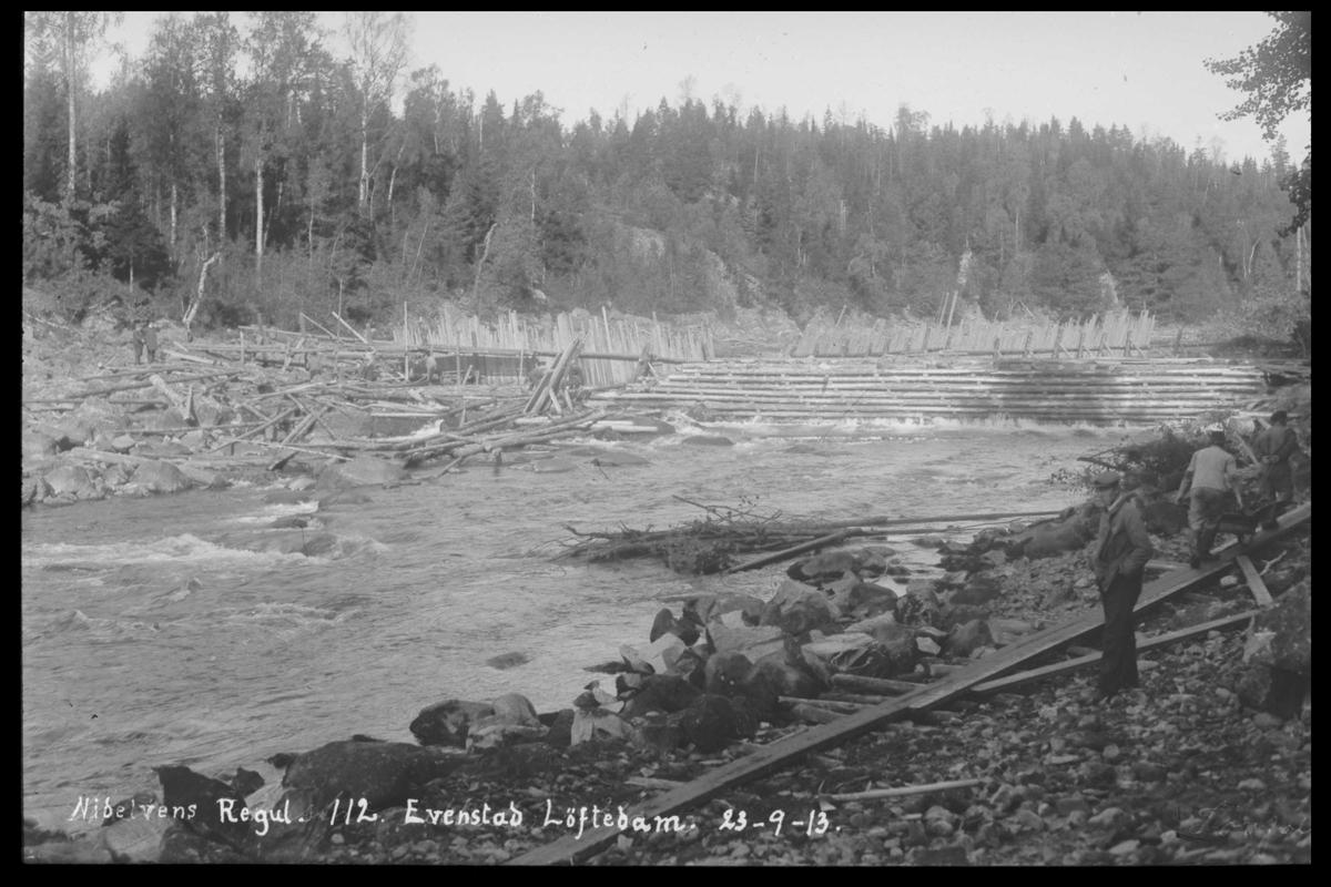 Arendal Fossekompani i begynnelsen av 1900-tallet CD merket 0474, Bilde: 93 Sted: Evenstad løftedam Beskrivelse: Damanlegget