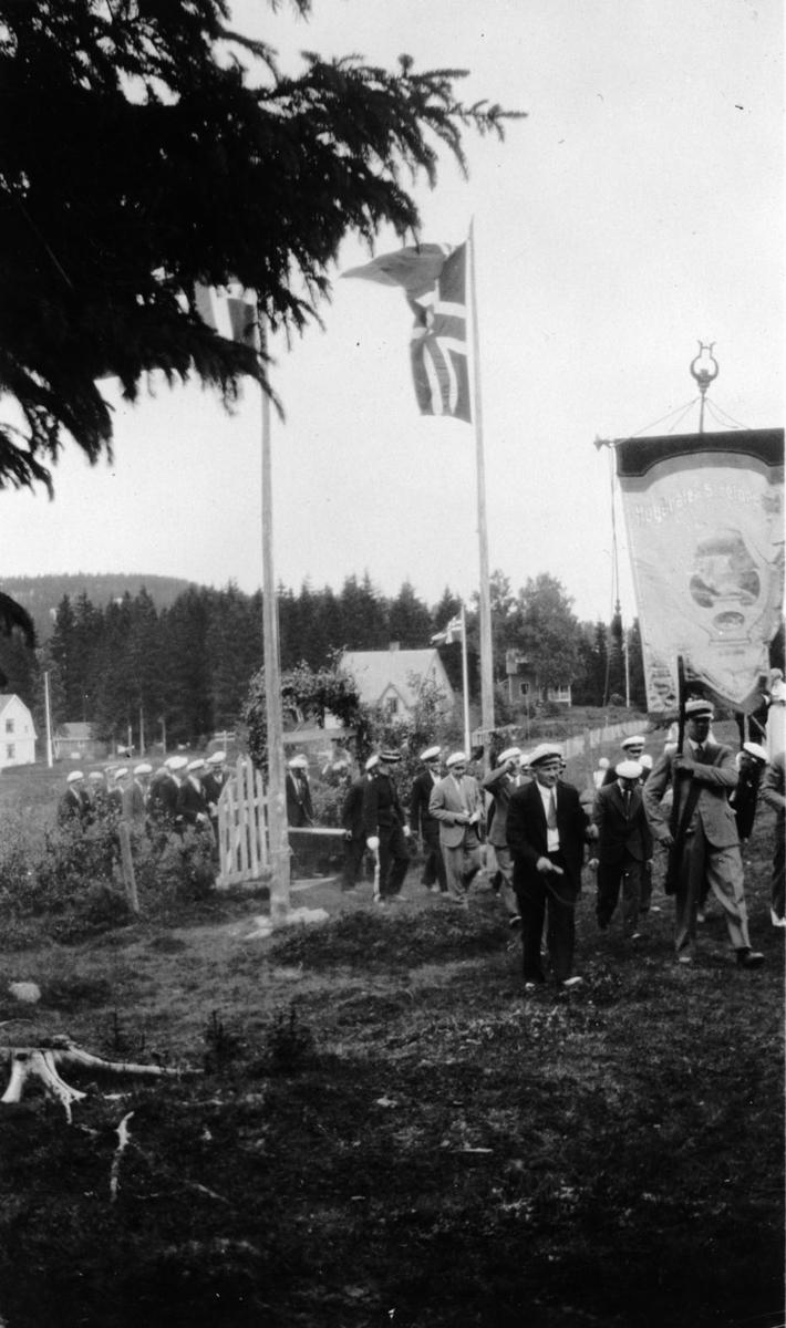 Lørenskog Mannskor på Robsrudhaugen.