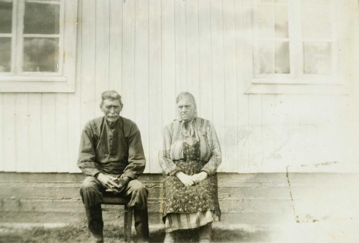 To gamle folk på Salstrokken