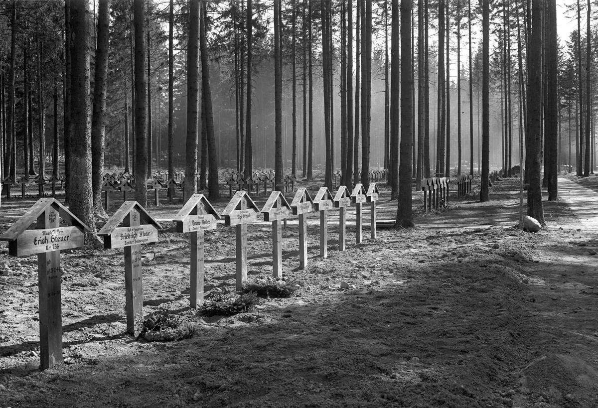 Gravsted over tyske soldater død 28.12.44