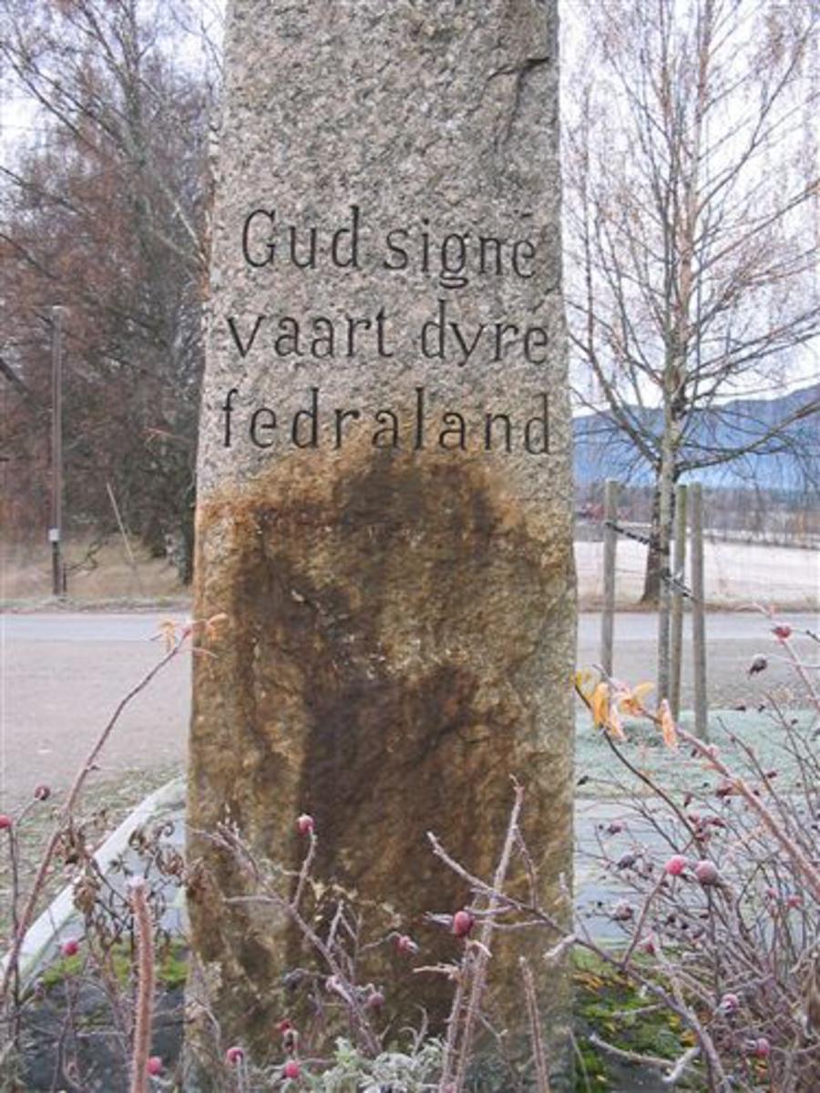 Kjøreanvisning: Bauta ved Bø kyrkje,1 km fra Bø sentrum