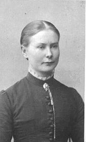 PORTRETT: BERTE MIKKELSDATTER FØDT: 1. 8. 1867, IMERSLUND VESTRE