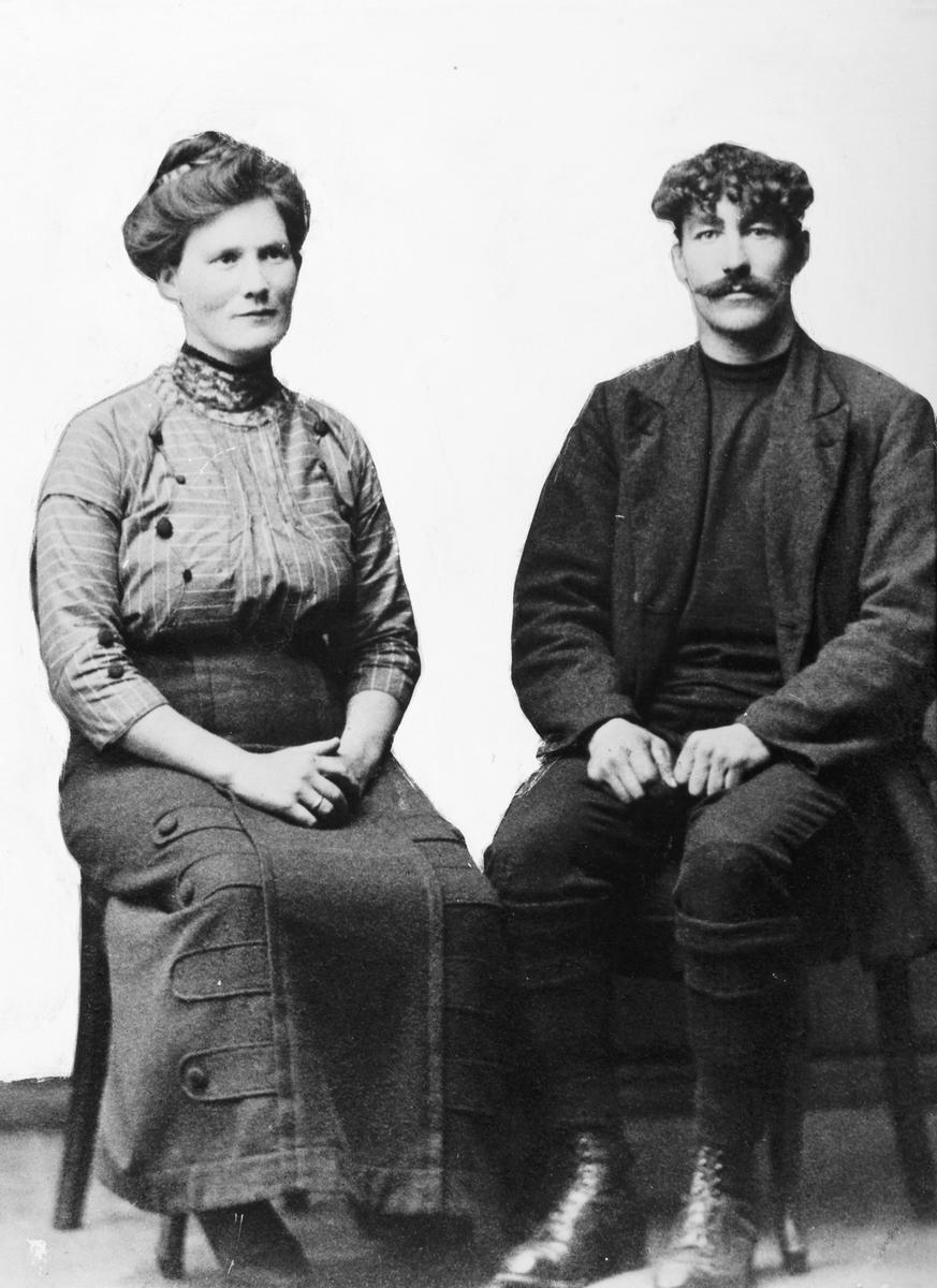 Anne Marie og Kristoffer Lindstadsveen. Stange. Kristoffer hjalp russiske krigsfanger og døde senere i tysk fangenskap.