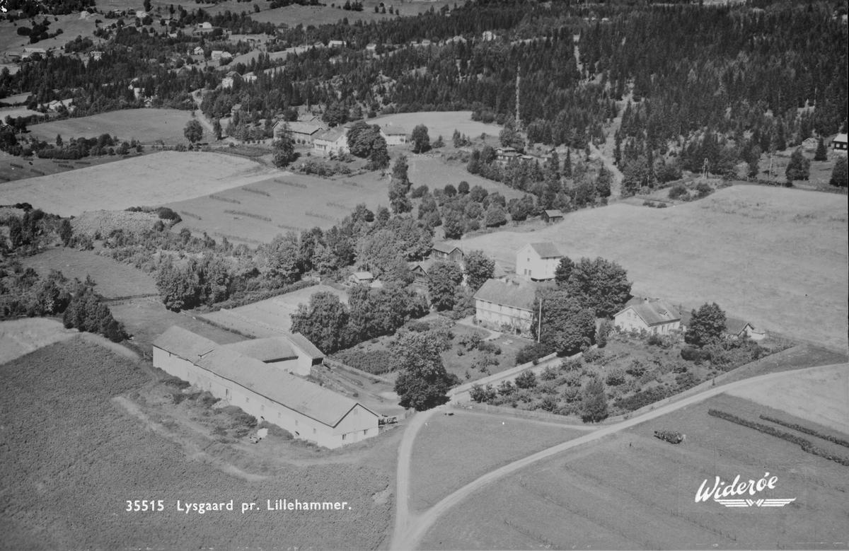 Flyfoto, Lillehammer, Lysgaard mot nordøst.