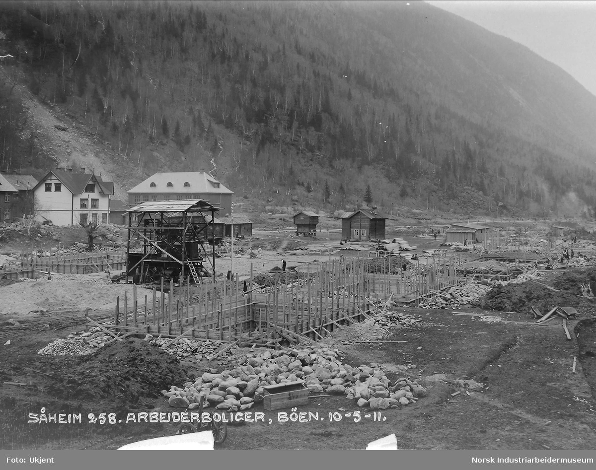 Såheim 258. Arbeiderboliger, Bøen.