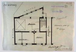 Hr. Bager John Walderhaugs nybygning i Toldbodgaden. [Plantegning]