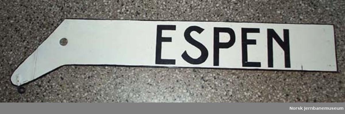 "Skilt tosidig ""Espen"""