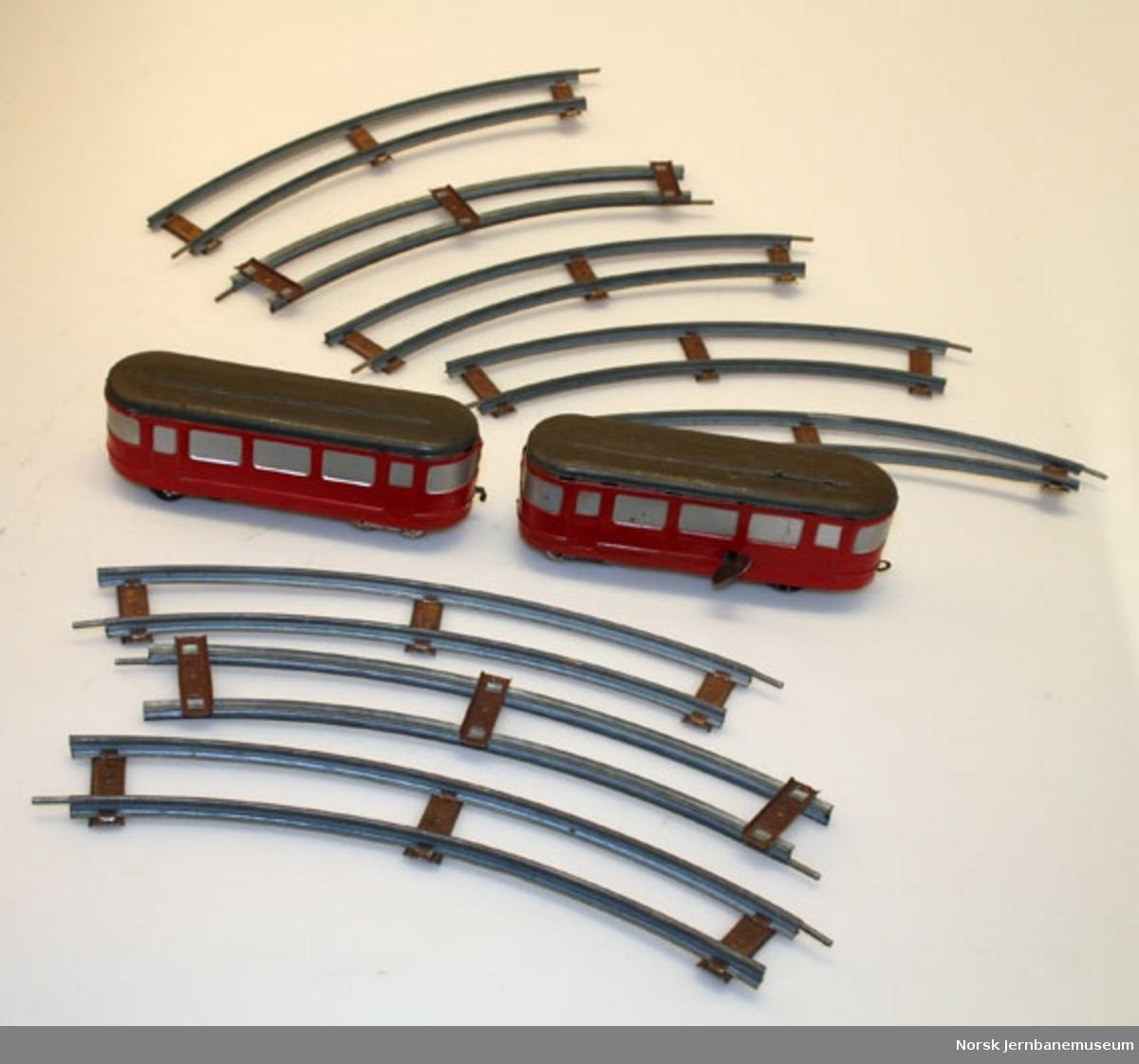 """Leketog : togsett """"Scandia-pilen"""", med fjæropptrekk"""
