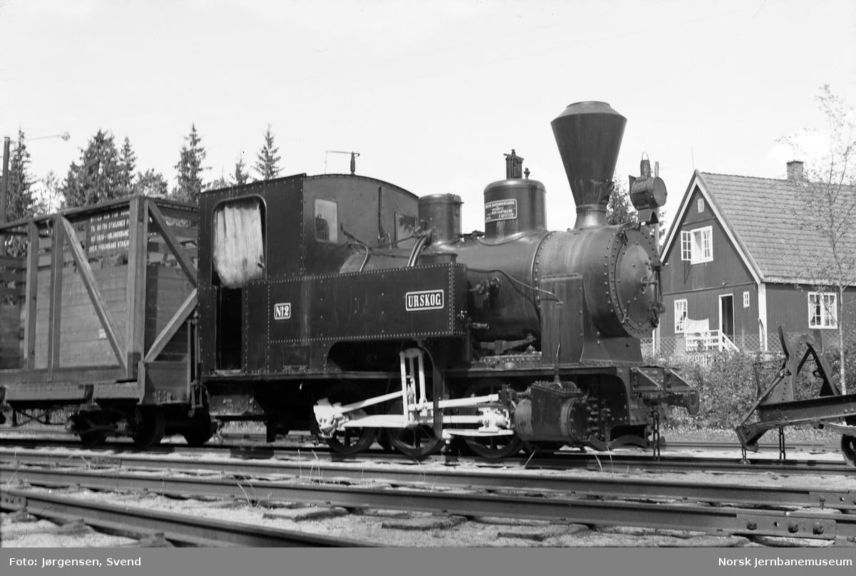 "Damplokomotivet ""Urskog"" på Jernbanemuseet"