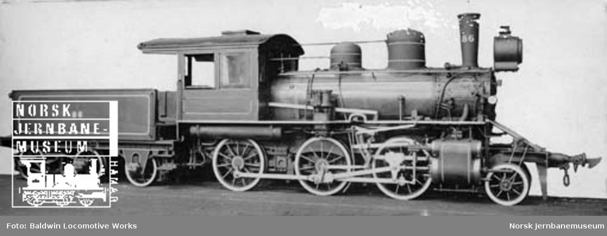 Leveransefoto av damplokomotiv type XXIIIe nr. 86
