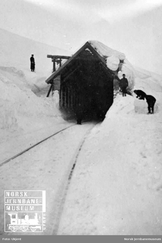 Snømåking fra snøoverbygg