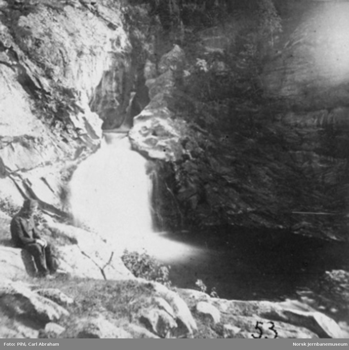 Ulafossen i Sel, nedre fald