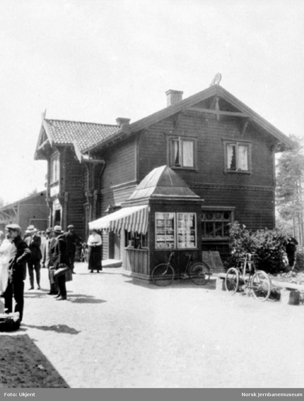 Stasjonsbygningen på Evje