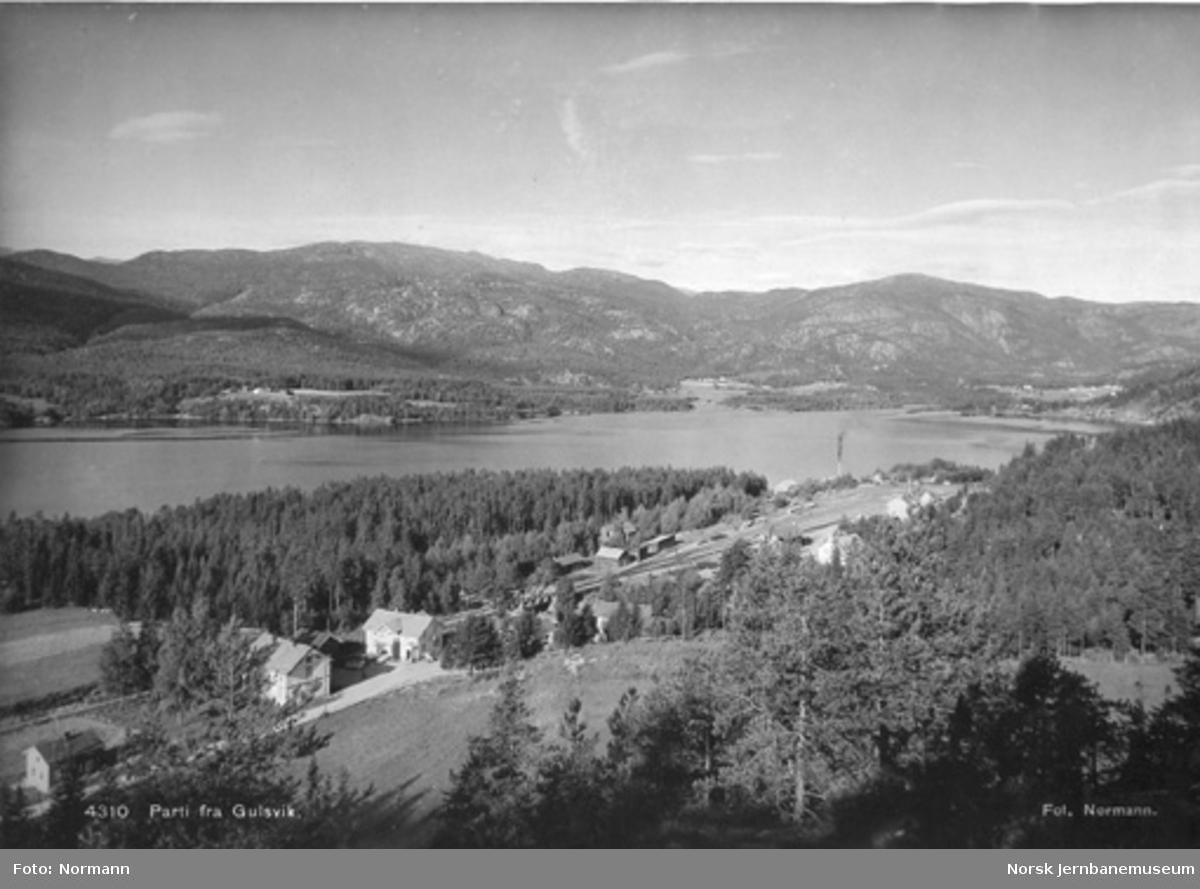 Oversiktsbilde fra Gulsvik med stasjonen