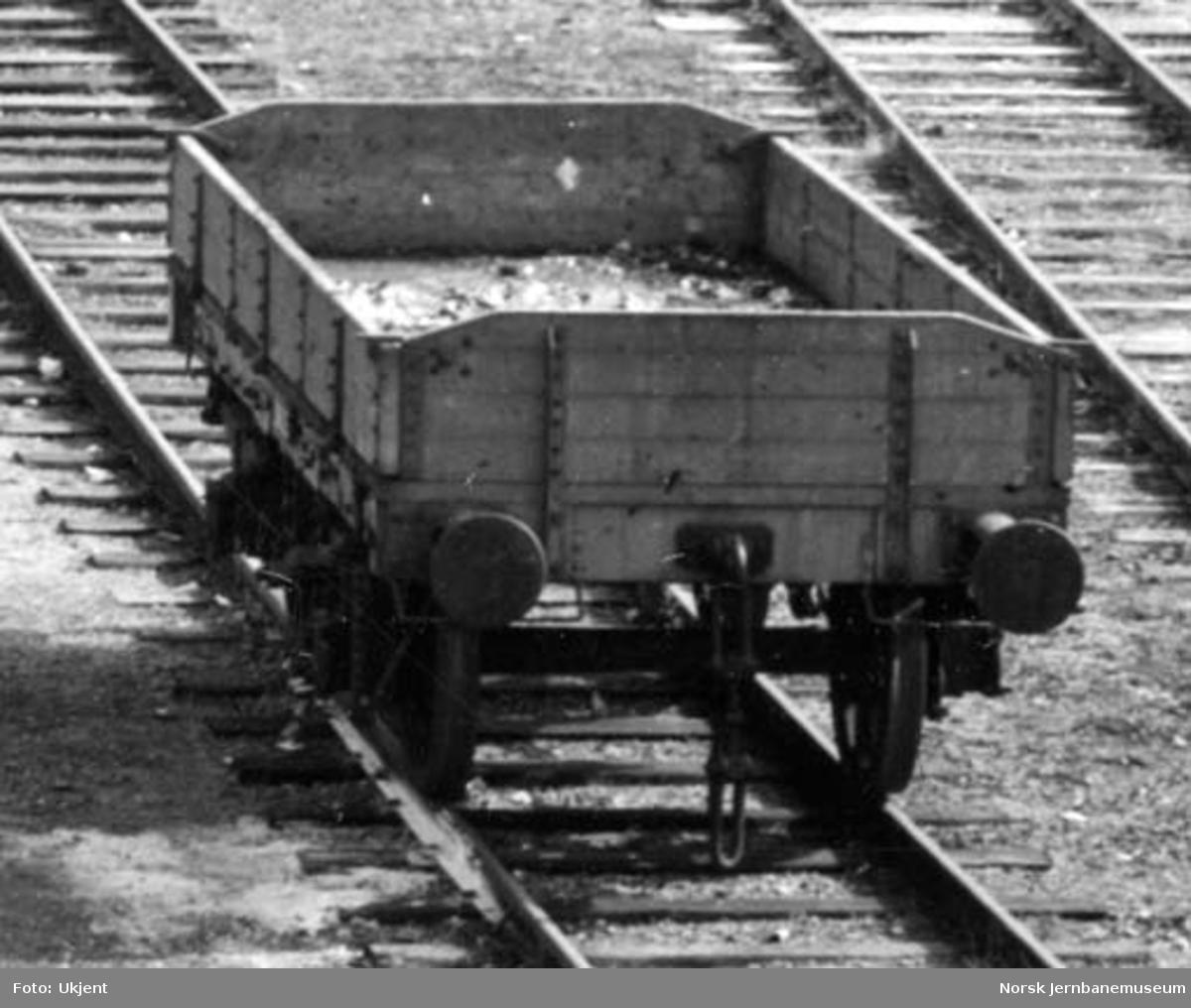 Jernbanens verksted i Narvik etter bombingen i 1940