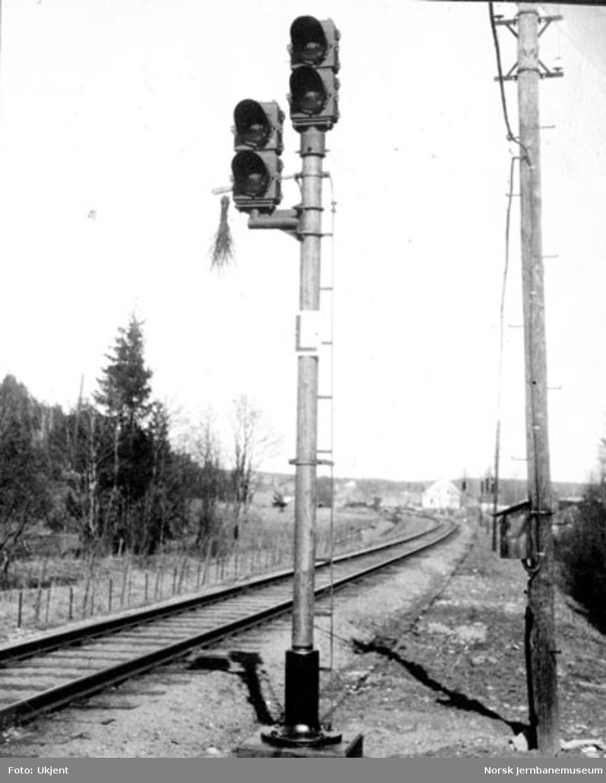 Forsignal av amerikansk type på Såner stasjon