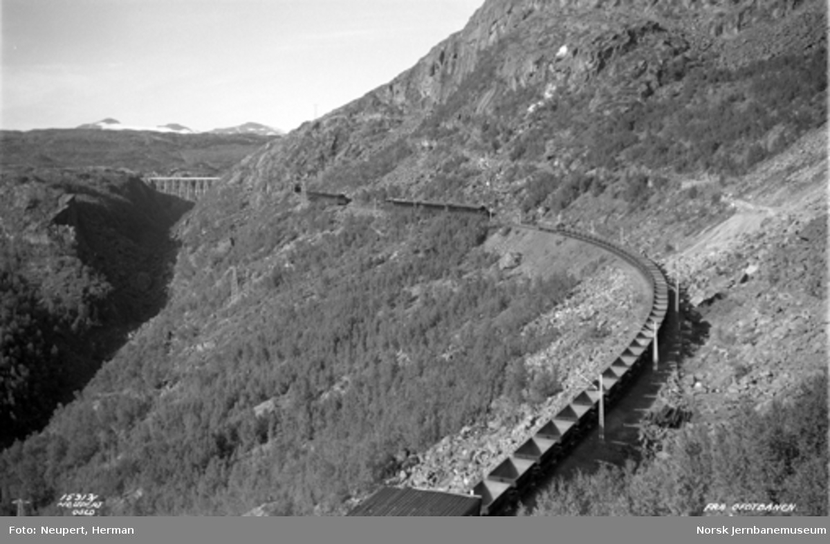 Malmtog i Norddalen med Norddalbrua i bakgrunnen