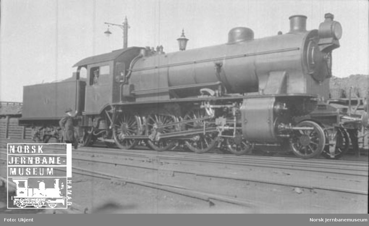 Hovedbanens damplokomotiv litra A nr. 1, trolig som nytt i 1911
