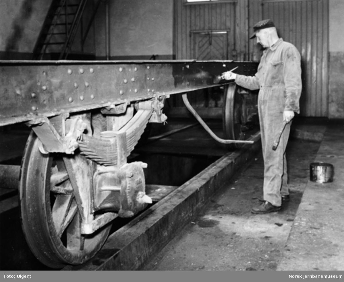 NSB Verkstedet Kvaleberg : bygging av plattformvogner litra Tl